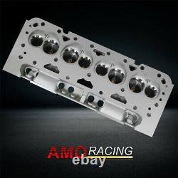 2pcs New 200cc 64cc Straight Bare Aluminum Cylinder Head Fits Chevy SBC 350 383