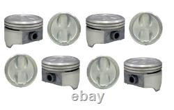 4.00 Bore 91 Comp Dish Top Pistons Set with Pins for Chevrolet SBC 350 5.7L