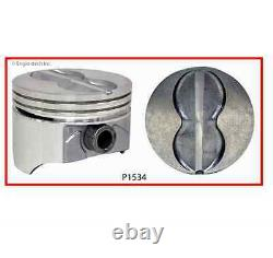 4.00 Standard Bore Flat Top Pistons Set with Pins for Chevrolet SBC 350 5.7L
