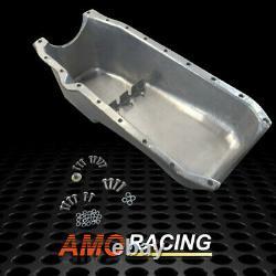 Aluminum Finned Oil Pan Passenger Side Black Fits 1986-2002 SBC Chevy 305-350 V8
