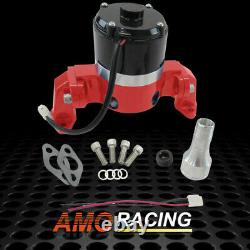 Aluminum High Flow 12V 5.5 Amps Electric Water Pump Red Fits SBC 350 383 Chevy