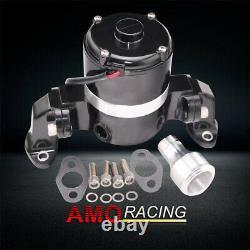 Aluminum High Flow Pump 12V Electric Water Pump Black Fits Chevy SBC 350 383