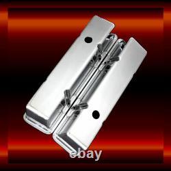 Aluminum SB Chevy Valve Covers Polished fits SB Chevy 327 350 383 400 SBC