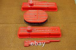 Chevrolet Hugger Orange Small Block Tall Valve Cover Set Vintage Show Quality