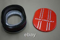 Chevrolet Powder Coated Hugger Orange with 4 line Air Cleaner K&N finned design