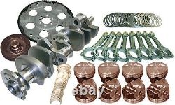 Eagle B13404E040 Cast Crank Rotating Assembly Fits Small Block Chevy 385 CID