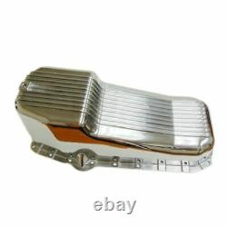 Finned Polished Aluminum Oil Pan Fit 58-79 SBC Chevy Small Block 283 305 327 350