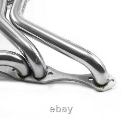Fit 70-87 CHEVY SBC 267-400 V8 STAINLESS STEEL LONG TUBE HEADER EXHAUST MANIFOLD