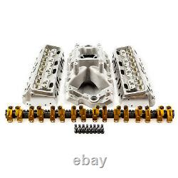 Fits Chevy SBC 15 Degree 230cc 61cc Cylinder Head Top End Engine Combo Kit