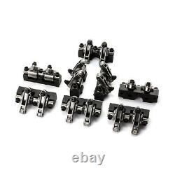 Fits Chevy SBC 350 1.6 Ratio Stainless Steel Shaft Mount Roller Rocker Arm Set