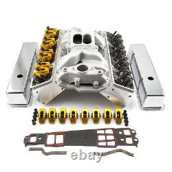 Fits Chevy SBC 350 Angle Plug Hyd Roller Cylinder Head Top End Engine Combo Kit