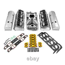 Fits Chevy SBC 350 Hyd FT 220cc Straight Plug Cylinder Head Top End Engine Combo