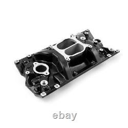 Fits Chevy SBC 350 LowRise Vortec Intake Manifold Black
