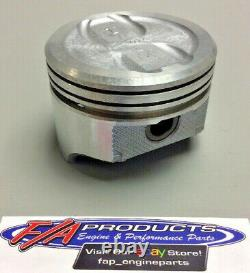Fits Small Block Chevy 350 V8 Engines Dished Piston Set Of 8 Silvolite 1470+. 020