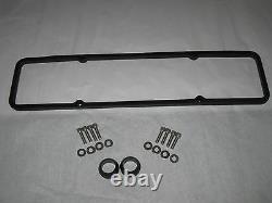 Hugger Black Powder Coated Ghost Tie Chevy Small Block Tall Valve Cover Set
