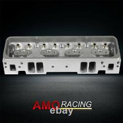 New 200cc 64cc Straight Bare Aluminum Cylinder Head Fits Chevy SBC 350 383