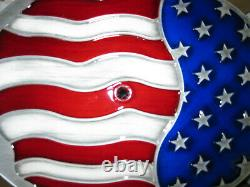New American Flag Chevy 12 Oval Air Cleaner K& N 2 Washable Filter 5.125 Neck