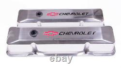 Proform 141-108 Valve Covers Aluminum/Tall withLogo Fits Small Block Chevy