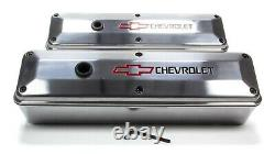 Proform 141-910 Aluminum Tall Valve Covers Fits Small Block Chevy Engines