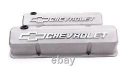 Proform 141-925 Valve Covers Aluminum/Tall Fits Small Block Chevy