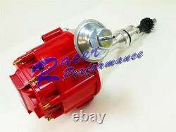 SBC BBC Red Cap HEI Distributor 327 350 396 454 Coil 50K Volt Fits SB BB Chevy