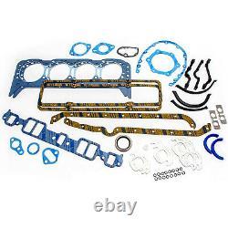 SBC Chevy 350 5.7L Master Engine Rebuild Kit With Pro Street Bracket Oval Camshaft
