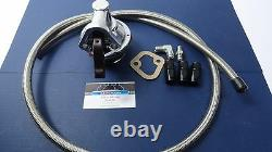 SBC Chevy Mechanical fuel pump kit High Volume with fittings & S. S. Braided Hose