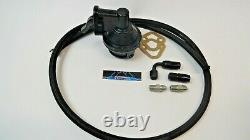 SBC Chevy Replacement Black Fuel Pump 305 350 400 With Fittings & Braided Hose