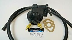 SBC Chevy Replacement Black Mechanical Fuel Pump 305 350 400 With Fittings & hose