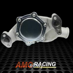 Short Style High Flow Water Pump High Volume Aluminum Fit SBC Chevy 283 327 350
