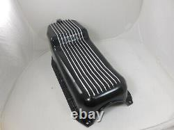 Small Block Chevy Black Alum Oil Pan 283-305-327-350 with hardware fit 80-85