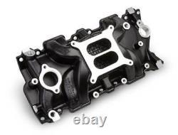 Weiand 8120BK Black Intake Manifold Small Block Chevy V8 262-400 fits 55-86