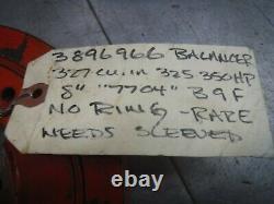 3896966 7704 Équilibreur Harmonique Oem 8 Usagés Z28 Lt1 L79 Petit Bloc Chevy