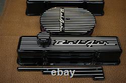 56 57 58 Bel Air Chevy Sb Engine Dress Up Kit Black Powder Coat 12 Air Ovale