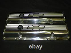 Bow Tie Ball MILL Chevy Small Block Tall Aluminum Valve Covers Breather Pcv Kit