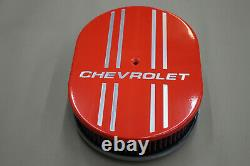 Chevrolet Powder Coated Hugger Orange Avec 4 Lignes Air Cleaner K & N Finned Design