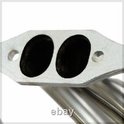 Convient 1965-1989 Chevy Small Block 283-400 Sbcfull Lengthexhaust En-tête Manifold