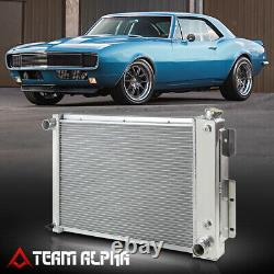 Convient 1967-1969 Chevy Camaro/firebird Sbc Tri Row Core Aluminium Racing Radiateur