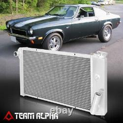 Convient 1971-1977 Chevy Vega / Astre Sbc Swap Tri Row Core Aluminium Racing Radiator