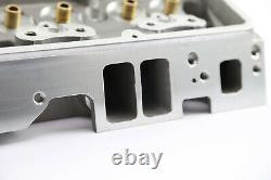 Convient Chevy Sbc 350 190cc 64cc Angle Plug Bare Aluminum Cylinder Head