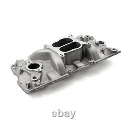 Convient Chevy Sbc 350 1957-95 Egr Low Rise Dual Plane Aluminum Intake Manifold