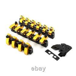 Convient Chevy Sbc 350 1.6 Ratio Alum. Shaft Mount Roller Rocker Bras Set Zero