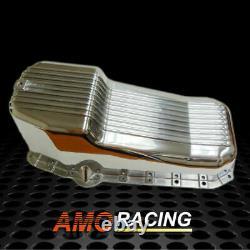 Finned Poli Aluminium Oil Pan Fit 58-79 Sbc Chevy Small Block 283 305 327 350