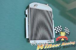 Fit Chevy Pickup/truck Withsbc/bbc 350 V8/l6 1939-1940 Radiateur Aluminum