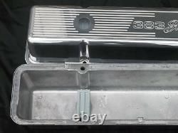 Ghostie 383 Stroker Chevy Small Block Tall Valve Cover 12 Nettoyeur D'air Ovale