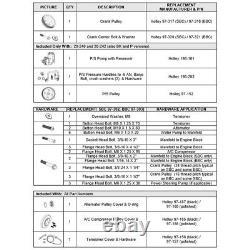 Holley 20-240 Petit Bloc Chevy Kit Complet D'entraînement D'accessoire De Mi-mount S'adapte Gen