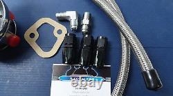 Kit De Pompe À Carburant Sbc Chevy Mécanique Volume Élevé Avec Raccords & Tuyau Tressé S. S.