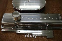 Nouveau Chevrolet Chevy 350 Finned Small Block Stock Height Billet Engine Dress Kit