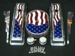 Nouveau Drapeau Américain Chevy 12 Nettoyeur D'air Ovale K & N 2 Filtre Lavable 5.125 Cou