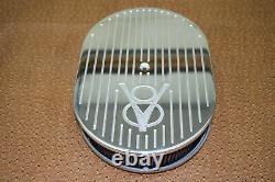 Old Ford V8 Design S'adapte Chevy Couvre Les Valves De Petit Bloc 12 Ovale Air Cleaner